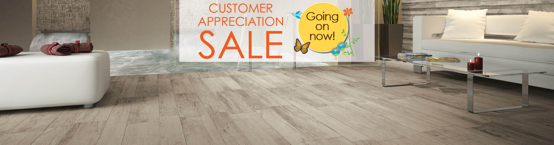 Save big on flooring this month during the Spectacular Home Flooring Sale at Abbey Carpet & Floor!